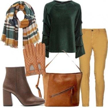 Outfit Sciarpa tartan