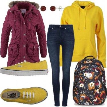 Outfit Coloratissima a scuola!