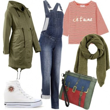 Outfit Mamma urban in salopette