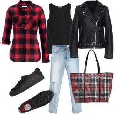 Outfit Uno stile a tutto tartan