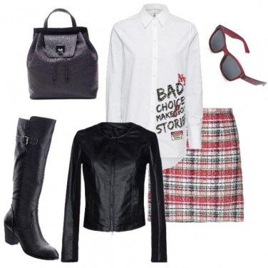 Outfit Scozia in rock