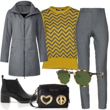 Outfit Grey yellow