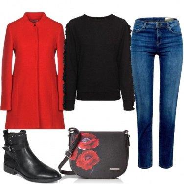 Outfit Un tocco di rosso