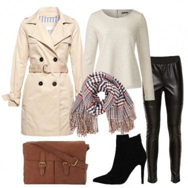 Outfit Trench e leggings
