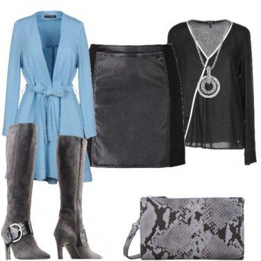 Outfit Cappotto azzurro