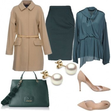 Outfit Cappotto cammello