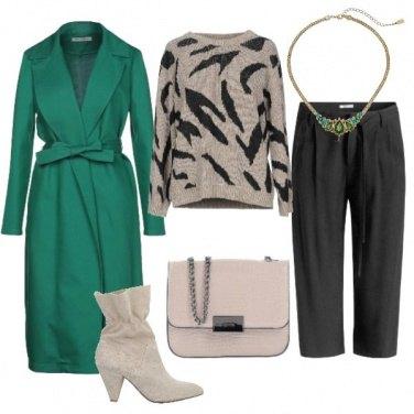 Outfit Un cappotto avvolgente