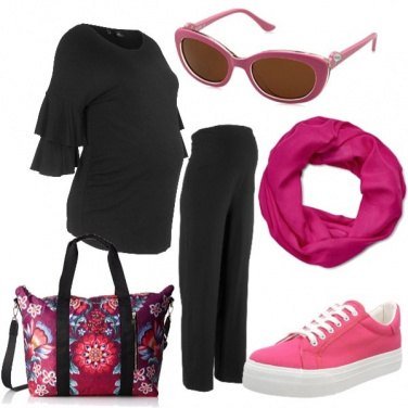 Outfit Mamma in fucsia