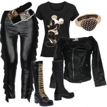 Outfit Un po Rock un po chic
