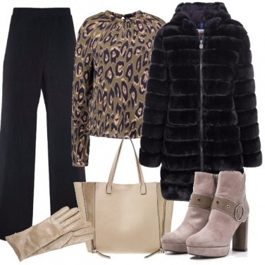 Outfit Raffinato animalier