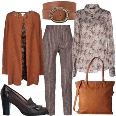 Outfit Cardigan aperto e camicia