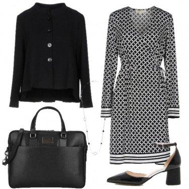 Outfit Il vestito bianco e nero