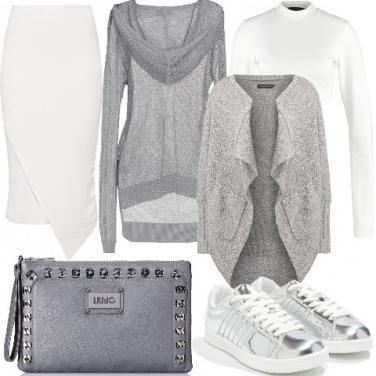 Outfit Chic in lurex da giorno