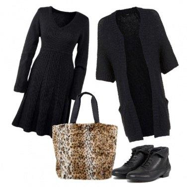 Outfit Animalier, nero e retrò