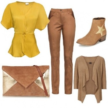 Outfit Top giallo