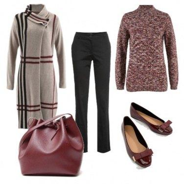 Outfit La borsa a secchiello di tendenza
