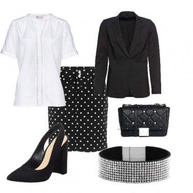 Outfit Passaggiata a pois