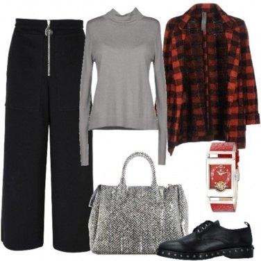 Outfit Quadri in rosso