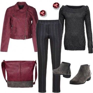Outfit Rosso scuro per l\'autunno