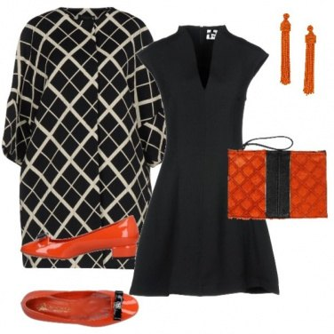 Outfit Orange & Black