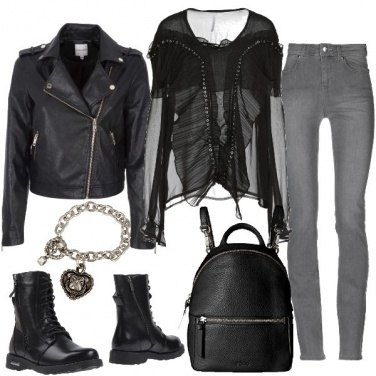 Outfit Trasparenze rock