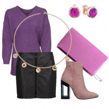 Outfit Dal viola al rosa