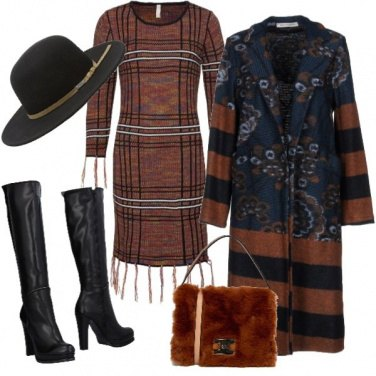 Outfit Righe marroni
