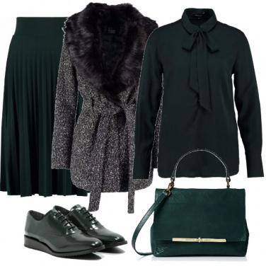 Outfit Verde bon ton