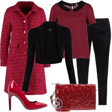 Outfit Rosso bon ton