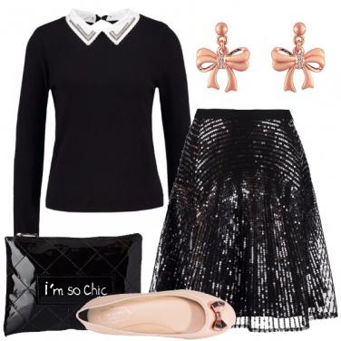 Outfit Bon ton con lustrini