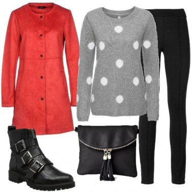 Outfit Rosso d\'inverno