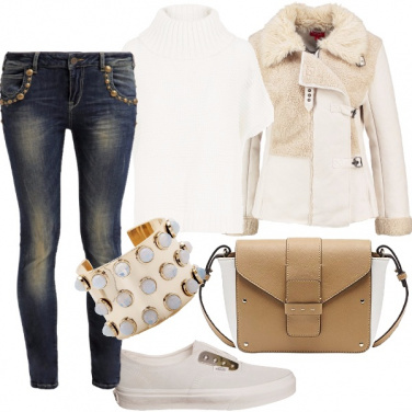 Outfit Rock in bianco