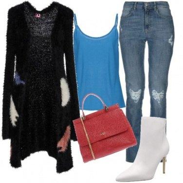 Outfit Fa tendenza, lo stivaletto bianco