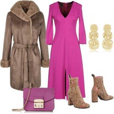 Outfit Inverno con un tocco di colore