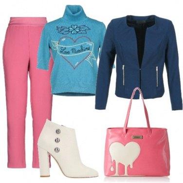 Outfit Rosa celeste