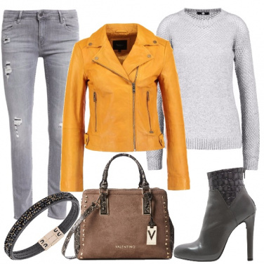 Outfit Chiodo giallo