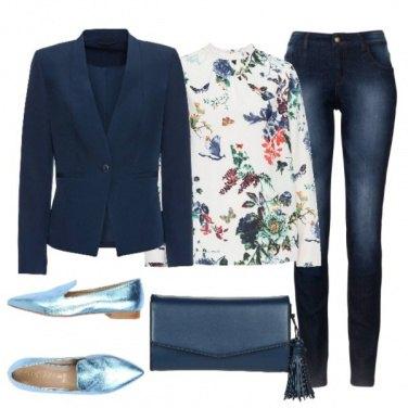 Outfit Variazioni in blu