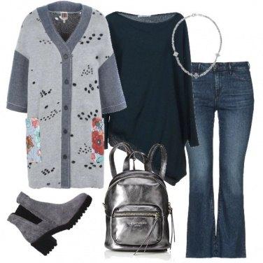 Outfit Jeans e maximaglia