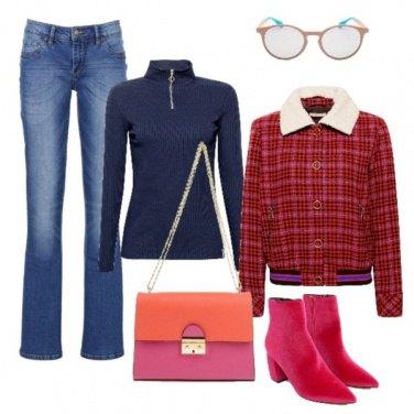 Outfit Fucsia aria vintage