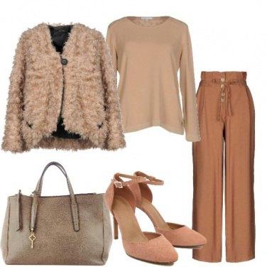 Outfit La pelliccia ecologica
