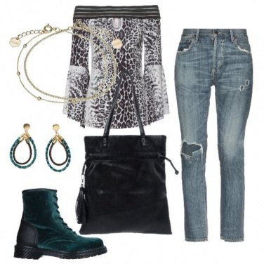 Outfit Animalier e velluto