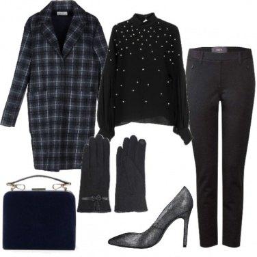 Outfit Tartan sul cappotto