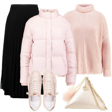 Outfit Soffice in rosa