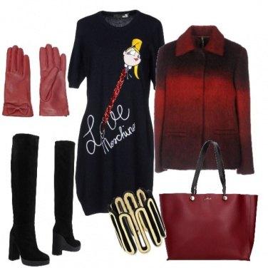 Outfit LOVE in rosso e nero