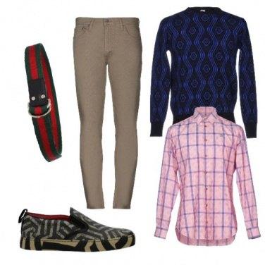 Outfit Quadri, rombi e righe varie