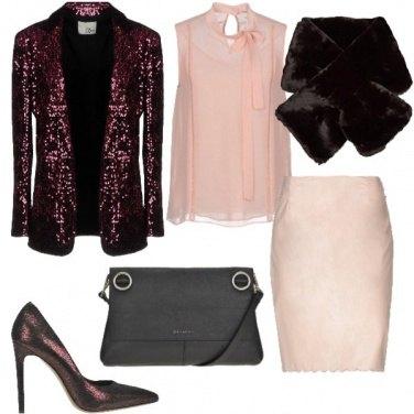 Outfit Bon ton con le paillettes