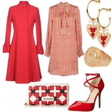 Outfit I look in rosso day&night