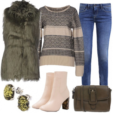 Outfit Gilet verde militare