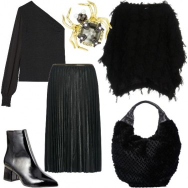 Outfit Fluidità in total black