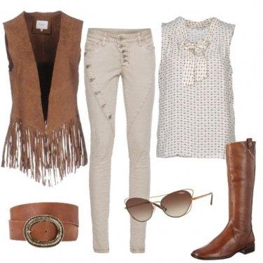 Outfit Il bianco e marrone